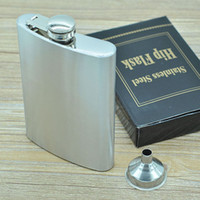 8oz Hip Flask With Funnel - Stainless Steel Leak Proof - Liq...