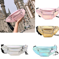40pcs Women PU Personal Brief Plain Zipper Fanny Packs 4colo...