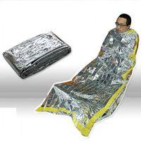 في الهواء الطلق الدفء خيام الشتاء حماية الفضاء في حالات الطوارئ كيس النوم PET فيلم مغلف نوع الغبار بطانية المحمولة 4 5zs ب