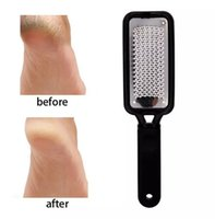 Gros pieds râpe décapants calleux outils de pédicure Durable en acier inoxydable retrait de la peau dure pied outil de meulage Fichier de soins des pieds Soins de la peau
