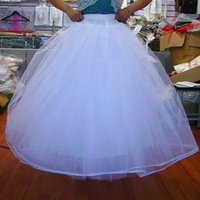 Venta superior Six Capas No Hoops Petticoats Tulle Nupcial Bodas Blanco Blanco A-Line Sirckires para Accesorios de Nupcial Crinolina