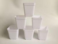 D7XH7.5CM мини детские горшки белые пластиковые плантаторы квадратные суккуленты держатель маленький сад открытый сад SF-135B