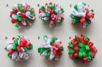 Kerstmis Loopy Bows Clips Haaraccessoires Meisje Lint Boutique Xmas Haar Bows Clip Bloem Haar Ties Meisjes Hoofdband 24 STKS HD3236