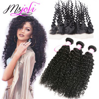 Indian Human Hair Wefts with Closure 13x4 Frontal Ear To Ear...