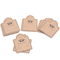Kraft Paper Ear Studs & Necklace Cards Jewelry Ornament Display Hang Tag Label Can Customize
