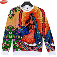 2018 Our Lady of Guadalupe 3D Printed Sweatshirts Women Men ...