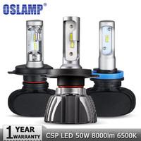 Oslamp H4 H7 H11 H1 H1 H3 9005 Auto LED Lampadine del faro Hi Lo BE BEAM CSP Chips 50W 6500K 8000LM Fari Auto LED HEARLAMP 12V 24V
