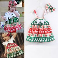 2018 INS Christmas Baby girl clothing Overall dress Cute Rei...