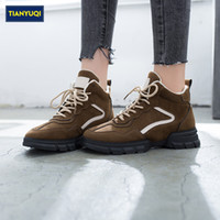 TIANYUQI Woman Walking Shoes Faux Fur Inside Comfortable Win...