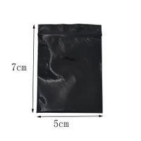 5*7cm Mini Black Zip Lock Resealable Zipper Bag 500pcs/lot Self Seal Plastic Package Bag Retail Zipper Grocery Gift Packing Storage Pouch