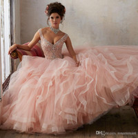 Quinceanera Dress Ball Gown Gorgeous Beaded Cap Sleeves Swee...