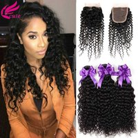 브라질의 Afro Kinky 컬리 헤어 위브 3 묶음 레이스 클로저로 상단 인간의 머리카락 묶음 거래 비 - 레미 헤어 익스텐션