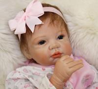 55cm / 22 pollici Handmade Reborn Baby Doll Girl Vita neonata come Soft vinile morbido Soft Touch delicato panno Body ciuccio magnetico / YDK-75R1