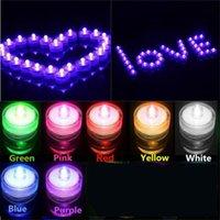 수중 LED 캔들 잠수정 빛 IP65 방수 밤 빛 배터리 작동 방수 웨딩 파티 크리스마스 꽃 장식