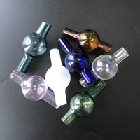 Verre de couleur universelle bulle Carb Cap ronde à billes Dôme Quartz thermique Banger Quartz thermique Banger Nail DCC09