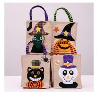 Colorful Halloween Candy Bag Cloth Gift Pumpkin Bags Trick o...