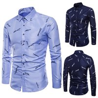 Lncdis Unique Men Dress Shirts Long Sleeve Autumn Casual Oxf...