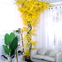 인공 황금 나뭇잎 꽃다발 가짜 녹지 공장 벽 장식 실크 잎 은행 나무 잎 웨딩 장식 가짜 잎 플라스틱 나뭇 가지