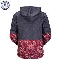 Hooded Hoodies Funny Design Drawstring Hoodies Homme Livraison Gratuite de haute qualité Floral Stitching 3d Imprimé Hommes