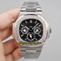5 Colore Nautilus quadrante nero automatici 5740 / 1G-001 Moon Phase Mens Watch in acciaio inossidabile 316L sport della fascia da polso di alta qualità