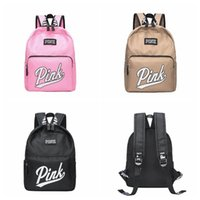Pink Backpack School Bags for Teenagers Unisex Pink Letter P...