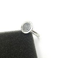 925 Sterling Argent CZ Diamant PANNEAU avec boîte d'origine pour Pandora Femmes Anneaux De Mode Bague De Mariage Cadeau Bijoux