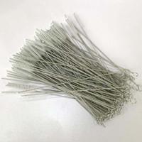 Spazzola per la pulizia della paglia in acciaio inox Spazzola per la pulizia della paglia in nylon Spazzola per la pulizia del tubo per bere Detergenti per biberon in acciaio inossidabile