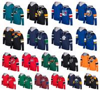 2018 Pullover con cappuccio personalizzato Hockey Pittsburgh Penguins New York Rangers Saint Louis Blues Detroit Red Wings Montreal Canadiens Dallas Stars