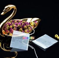 Saquinhos de chá vazio sacos de material Nylon Com Corda curar vedação do filtro de papel para Herb chá frouxo 100pcs / lot