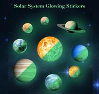 3D leuchtende Planeten Wandaufkleber Solar System leuchtende PVC-Aufkleber DIY Planeten fluoreszierende leuchtende Wand Aufkleber
