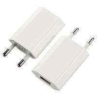 الهاتف 200PCS / الكثير جدار شاحن الاتحاد الأوروبي 5V 1A 5W المحمولة USB شاحن محول للأجهزة الخلوية