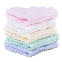 Candy- colored children' s 6 layers of washed gauze squar...