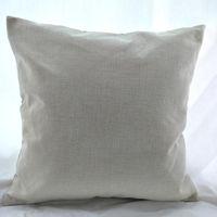 16x16 pulgadas de polietileno natural lino funda de almohada espacios en blanco para bricolaje sublimación arpillera llana cubierta de cojín bordado espacios en blanco directamente de fábrica