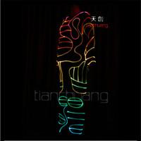 TC-88 El filo freddo Full color LED illuminazione colorata robot costumi danza sala da ballo LED fase indossa dj prestazioni menswear abbigliamento programmabile
