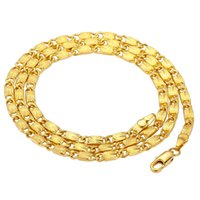 24K Gold Plated Necklace For Men And Women Charming Fine Jew...