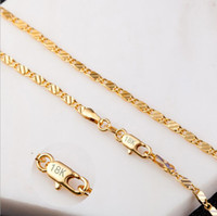2MM Fashion Luxury Womens Jewelry 18K Gold Plated Necklace C...