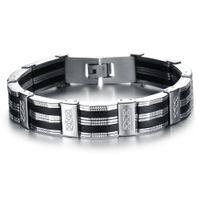 Высокое качество Мужчины Браслет Личностные из нержавеющей стали силиконовые браслеты Мужские ювелирные изделия Аксессуары для Best Friend браслет