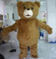 Alta qualidade hot Teddy Bear Mascot Costume Fancy Dress transporte rápido tamanho adulto