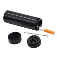 La cassa di alluminio della sigaretta della tasca della grinder di espulsione automatica di DHL con il supporto della cassa della sigaretta della smerigliatrice include un battitore di ceramica di 55mm