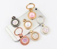 Diamante joya soporte teléfono móvil anillo universal pequeño reloj de bolsillo metal teléfono móvil anillo hebilla anillo soporte