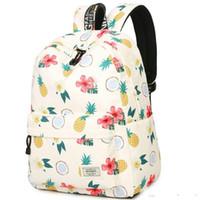 Ананас рюкзак цветок ананас рюкзак каракули печати школьный случайный рюкзак Спорт мешок школы мешок Открытый день пакет