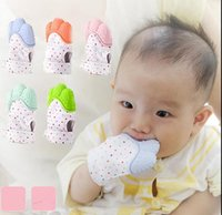 Silicone Teether Baby Pacifier Glove Teething Baby Mitt Teet...