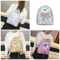 Mini Hologram Backpack 3 Colors Holographic Laser PU Leather...