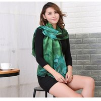 2018 Autumn and Winter Cotton and Linen Scarf Ladies Printin...