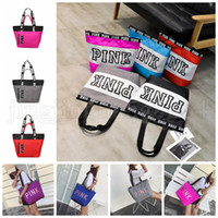 Sequins PINK Letter Handbags 17 Colors Portable Love Pink Sh...