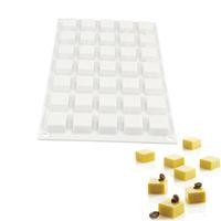 35 trous MICRO SQUARE 5 moules en silicone pour outils de cuisson de desserts de bonbons au chocolat de gâteaux