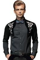 Camicie da uomo Camicie Arrivo Uomo Primavera Royal Prince Floral Slim Tuxedo Maschio Classico Casual Manica lunga Manica lunga Top Abbigliamento Uomo 512003