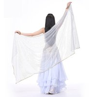 2018 Stage Performance Belly Dance SequinScarf Shawl Light Texture Half Circle Veils Professional Women Belly Dance Veil