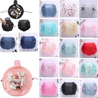 16 colors Vely lazy cosmetic bag Flamingo Unicorn print Draw...