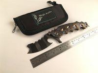 Cuchillo plegable mágico D2 cuchillo Chav Custom Gran cojinete de bolas de acero titanio acampar Cuchillos de supervivencia de caza Herramientas EDC al aire libre hombre de guerra